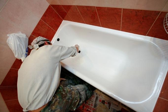 восстановление эмали ванны
