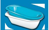 Акриловый вкладыш в ванну в Поставах
